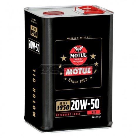 MOTUL 20W50 MINERAL CLASSIC ENGINE OIL 5 LITRES