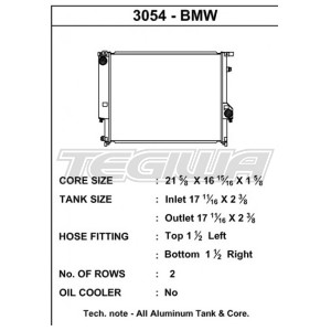 CSF ALLOY ALUMINIUM RADIATOR BMW E36 6-CYLINDER M50 M52