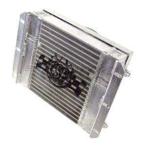 CSF 13.8L X 10H DUAL FLUID BAR & PLATE HD OIL COOLER W/ 9' SPAL FAN