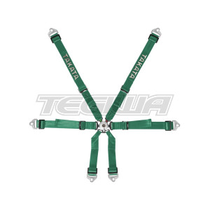 TAKATA RACE 2X2 HARNESS SNAP-ON FHR GREEN - HANS
