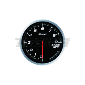 DEFI 80MM ADVANCE BF TACHO/RPM GAUGES WHITE