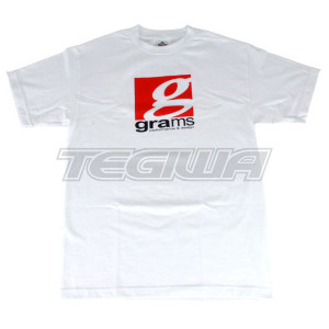 GRAMS PERFORMANCE & DESIGN LOGO TEE WHITE - XL