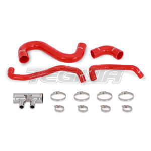 Mishimoto Silicone Lower Rad Hose Ford Mustang GT 15-17 Red