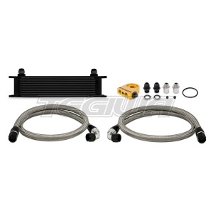 Mishimoto Universal 10 Row Thermostatic Oil Cooler Kit Black