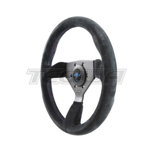 PERSONAL GRINTA BMW TRICOLORE SUEDE-LEATHER STEERING WHEEL 330MM