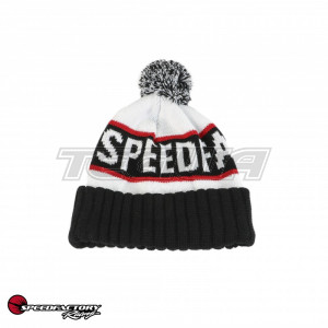 SPEEDFACTORY RACING WINTER BEANIE WITH POM (RED/WHITE/BALCK)