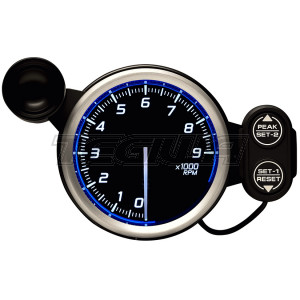 DEFI 80MM RACER TACHO/RPM GAUGES N2 BLUE