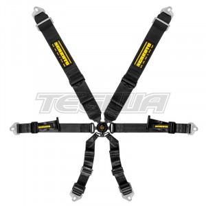 SCHROTH PROFI 3X2 PULL DOWN 6 POINT HARNESS - BLACK