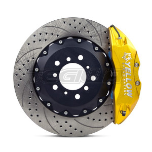 YELLOW SPEED FRONT 356MM 6 POT BBK FLOATING DISC BMW E46 M3 CUP SPEC