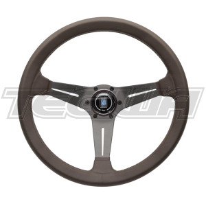 NARDI DEEP CORN REVOLUTION BROWN LEATHER STEERING WHEEL 350MM