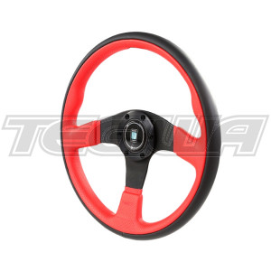 NARDI TWIN LEATHER STEERING WHEEL 350MM