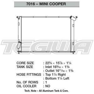 CSF ALLOY ALUMINIUM RADIATOR 02-07 MINI COOPER S R52 R53