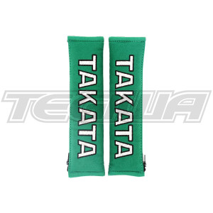 "TAKATA 2"" HARNESS SHOULDER PADS GREEN"