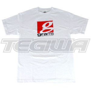 GRAMS PERFORMANCE & DESIGN LOGO TEE WHITE - XXL