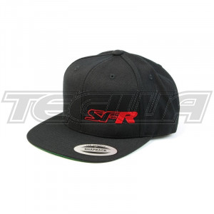 SPEEDFACTORY RACING SFR LOGO SNAP BACK FLAT BILL BLACK HAT