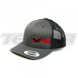 SPEEDFACTORY RACING SFR LOGO BLACK SNAP BACK TRUCKER HAT