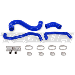 Mishimoto Silicone Lower Rad Hose Ford Mustang GT 15-17 Blue