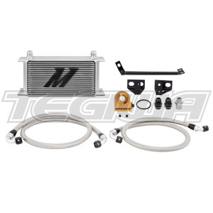 Mishimoto T-stat Oil Cooler Ford Mustang Ecoboost 15-17 Silver