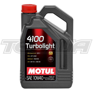 MOTUL 4100 TURBOLIGHT 10W40 TECHNOSYNTHESE ENGINE OIL 1 LITRE NO FILTER