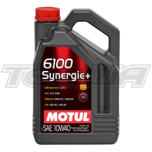 MOTUL 6100 SYNERGIE+ 10W40 TECHNOSYNTHESE ENGINE OIL