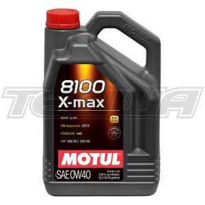 MOTUL 8100 X-MAX 0W40 SYNTHETIC ENGINE OIL