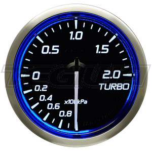 DEFI 60MM RACER GAUGES N2 BLUE
