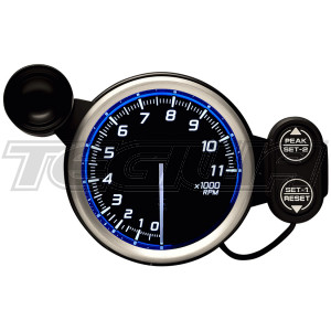 DEFI 80MM RACER TACHO/RPM GAUGES N2 RED