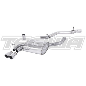 Milltek Cat Back Exhaust Audi A3 3.2 V6 quattro Sportback 03-12 - Non-Res
