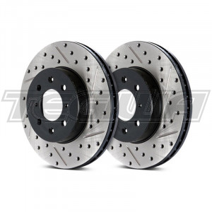 Stoptech Drilled & Slotted Brake Discs (Front Pair) Aston Martin DB7 93-99