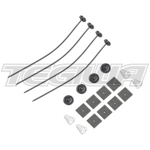 Tegiwa Slim Fan Low Profile Universal Fitting Fixing Kit Clips Ties Support