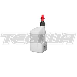 TEGIWA 20 LITRE TUFF JUG - WHITE/RED DRY BREAK CAP