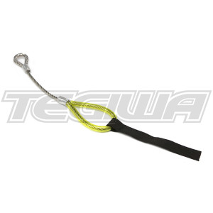 TEGIWA FIA/MSA HEAVY DUTY WIRE TOW EYE LOOP RACE RALLY CAR YELLOW